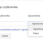 Dodawanie użytkownika - Search Console